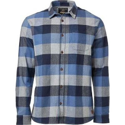 クイックシルバー メンズ シャツ トップス Quiksilver Men's Stretch Flannel Reg Shirt Quiet Harbo Stretch Flanel Reg