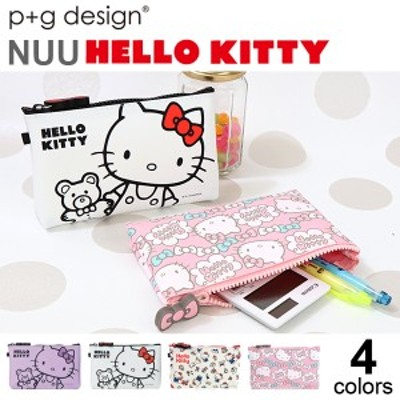 ハローキティ ジッパー ポーチ ピージーデザイン HELLO KITTY p+g design ヌウ キティちゃん グッズ