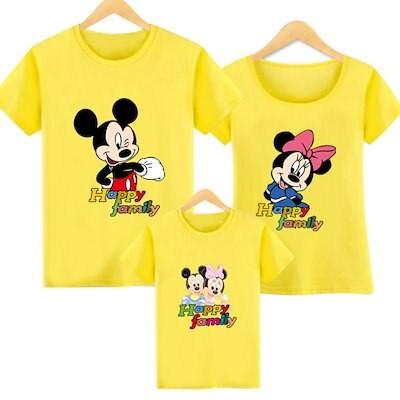 新品!親子ペアルックカップル服 ディズニー ミッキーマウス t シャツ 韓国ファッション