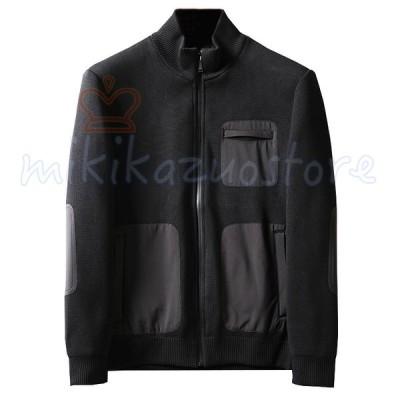 【M-3XL】メンズ ホワイトグースダウン ライダースジャケット 立てネック シングルライダース コートアウター/メンズ/長袖/保温 防風 通勤
