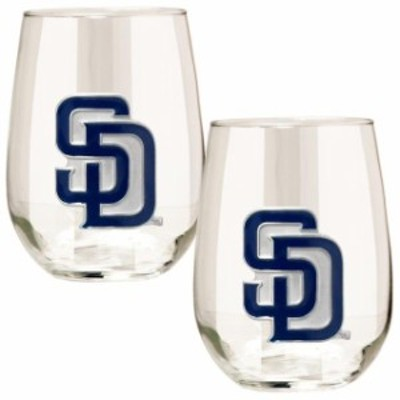 Great American Products ゲット アメリカン プロダクツ スポーツ用品  San Diego Padres Stemless Wine Glass Set