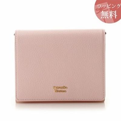 サマンサタバサ 財布 折財布 二つ折り ショルダー付き スプリングカラー ピンク Samantha Thavasa