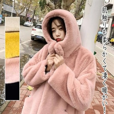 ◆極上の軽くて暖かい生地。暖冬は必須だ ふわふわ 子羊の毛 ロングコート 防寒 冬アウター 肌触りも柔らかくて凄く暖かい!!!