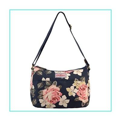 【新品】Cath Kidston Matt Oilcloth The All Day Bag Shoulder Handbag Richmond Rose Pattern Dark Navy Color(並行輸入品)