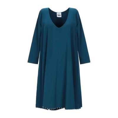 MY TWIN TWINSET ミニワンピース&ドレス ディープジェード S コットン 95% / ポリウレタン 5% ミニワンピース&ドレス