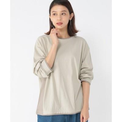 tシャツ Tシャツ 《days》サイド切り替えロングTシャツ