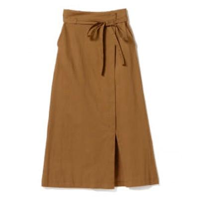 【アウトレット】Ray BEAMS / 綿麻 ラップ ロングスカート