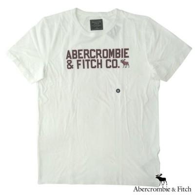 アバクロ Tシャツ メンズ 半袖 トップス ホワイト Abercrombie&Fitch アバクロンビー&フィッチ A&F アメカジ ファッション ブランド 145