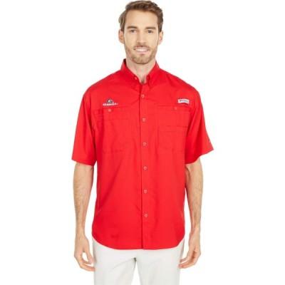 コロンビア Columbia College メンズ 半袖シャツ トップス Georgia Bulldogs Tamiami(TM) Short Sleeve Shirt Bright Red