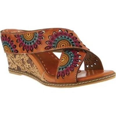 スプリングステップ LArtiste by Spring Step レディース サンダル・ミュール シューズ・靴 Enticing Slide Camel Leather