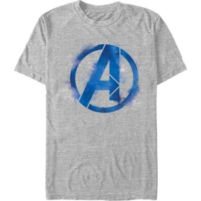 マーベル Marvel メンズ Tシャツ トップス Avengers Endgame Spray Paint Logo, Short Sleeve T-shirt Athletic H