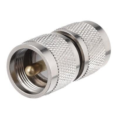 uxcell N オス- UHF オスコネクタ N オス- UHF M ストレートブラス RF同軸コネクタ