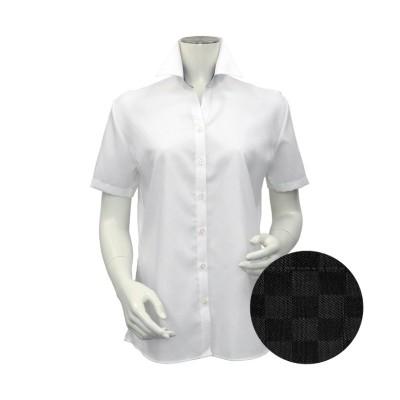 (TOKYO SHIRTS/トーキョーシャツ)シャツ 半袖 形態安定 スキッパー衿 綿100% レディース ウィメンズ/レディース シロ