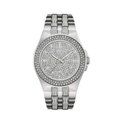 腕時計 ブローバ メンズ 96B235 Bulova Men's 96B235 Swarovski Crystal Stainless Steel Watch