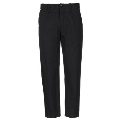 パオロ ペコラ PAOLO PECORA パンツ ブラック 44 コットン 99% / ポリウレタン 1% パンツ