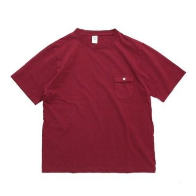 Jackman ジャックマン JM5850 Pocket T-shirt (カージナル)(ポケTEE)