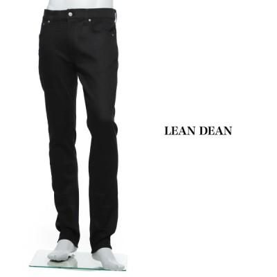 ヌーディージーンズ nudie jeans co ジップフライ ジーンズ LEAN DEAN リーン ディーン レングス32 大きいサイズあり ブラック メンズ lean-dean-112498
