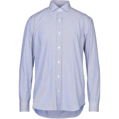 サルヴァトーレピッコロ SALVATORE PICCOLO メンズ シャツ トップス striped shirt Dark blue