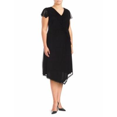 ラブスカーレット レディース ワンピース Plus Wrap Knee-Length Dress