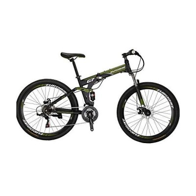 "Full Suspension Folding Mountain Bike 27.5"" 21 Speed Bicycle Mens Disc Brake MTB 並行輸入品"