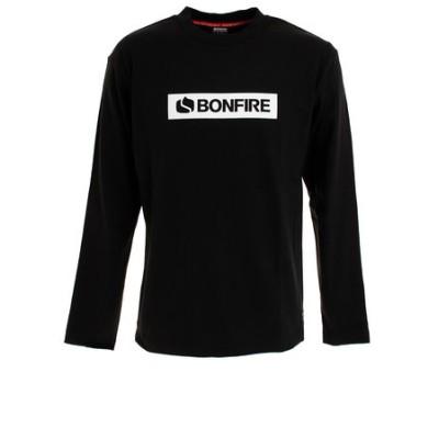 ボンファイア(Bonfire)Tシャツ メンズ 長袖 SQUAIR 50BNF10FMP2068 BLK