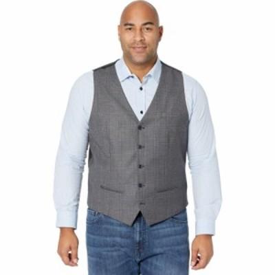 ジョニー ビッグ Johnny Bigg メンズ コート 大きいサイズ アウター Big and Tall Harris Check Waistcoat Charcoal