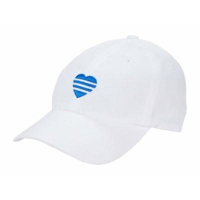 アディダス 帽子 アクセサリー レディース 3-Stripe Heart Hat White