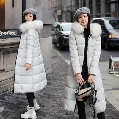 中綿ダウンジャケット レディース 中綿コート ダウンジャケット ダウンコート ファー付き ロングコート アウター 厚手 暖かい 防風 防寒