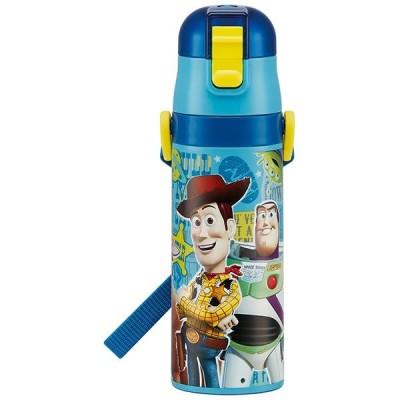 子供用 水筒 /  超軽量 ロック付 ワンプッシュダイレクト ステンレスボトル 470ml トイストーリー19
