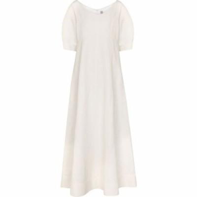 トーテム Toteme レディース ワンピース ミドル丈 ワンピース・ドレス linen and cotton-blend midi dress Off White