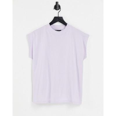 エイソス ASOS DESIGN レディース ノースリーブ トップス boxy sleeveless t-shirt in lilac ライラック