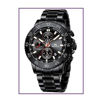 MEGALITH メンズ 腕時計 ステンレススチール 防水 アナログ クォーツ ファッション ビジネス クロノグラフ