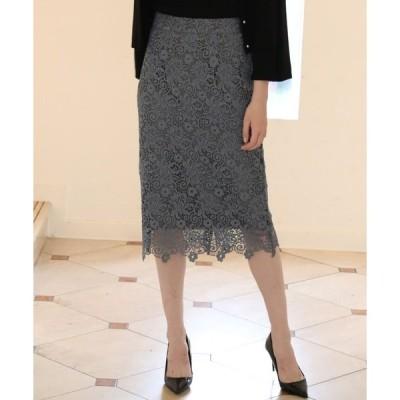 スカート 《Maglie WHITE》トルコレースタイトスカート