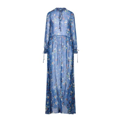 MY TWIN TWINSET ロングワンピース&ドレス ブルー XXS レーヨン 100% ロングワンピース&ドレス