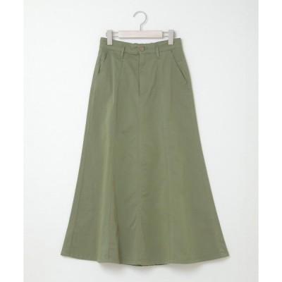 スカート ストレッチ裾ひらりスカート