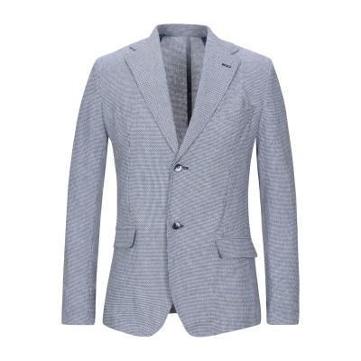 ハマキホ HAMAKI-HO テーラードジャケット ブルー 46 コットン 60% / レーヨン 18% / ポリエステル 18% / リネン 4%