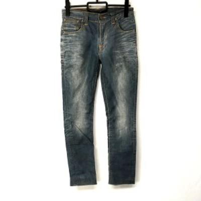 ヌーディージーンズ NudieJeans ジーンズ サイズ28 L レディース - グレー フルレングス/ダメージ加工【還元祭対象】【中古】20210325