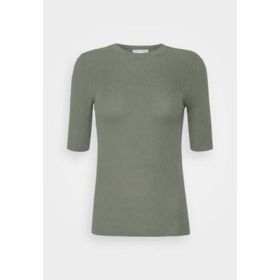 タイガー オブ スウェーデン Tシャツ レディース トップス ORVI - Basic T-shirt - evergreen