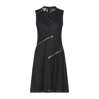 モスキーノ MOSCHINO ミニワンピース&ドレス ブラック 40 レーヨン 82% / ナイロン 18% ミニワンピース&ドレス