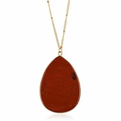 Bohemian Natural Stone Bead Long Necklace - Multi Layer Drape, Sparkly Crystal, Genuine Wood Pendant Charm Statement Chain (Peta