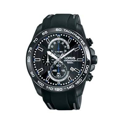 LORUS Mens Chronograph Quartz Watch with Rubber Strap RM385CX9 並行輸入品