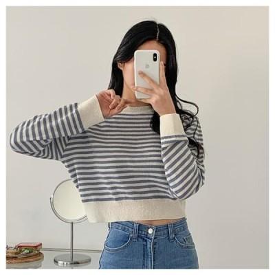 dangosister レディース ニット/セーター Bookle Striped Knitwear