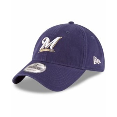 ニューエラ メンズ 帽子 アクセサリー Milwaukee Brewers On Field Replica 9TWENTY Fitted Cap Navy