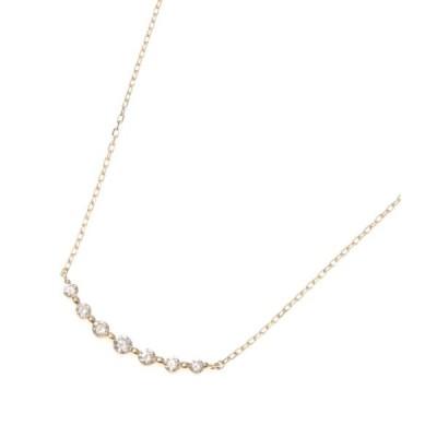COCOSHNIK / ココシュニック K18ダイヤモンド グラデーション7石 ネックレス
