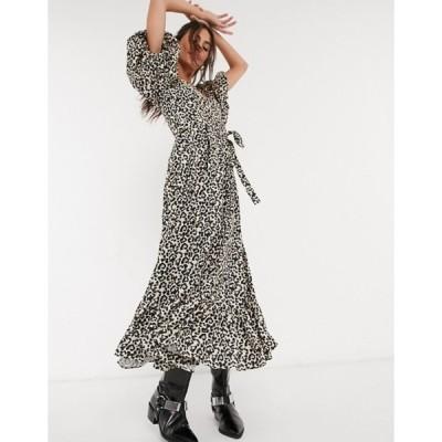 シスタージュン レディース ワンピース トップス Sister Jane maxi dress with puff sleeves in leopard