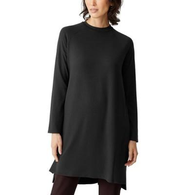 エイリーンフィッシャー ワンピース トップス レディース Raglan-Sleeve Dress, Regular & Petite Black