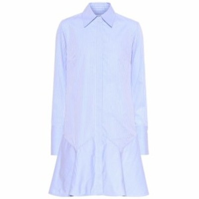 ヴィクトリア ベッカム Victoria Victoria Beckham レディース ワンピース ワンピース・ドレス striped cotton minidress Oxford Blue