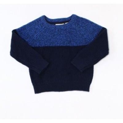 ファッション トップス Fat Face Baby Boy Sweater Blue Size 3T Knitted Long Sleeve Colorblock