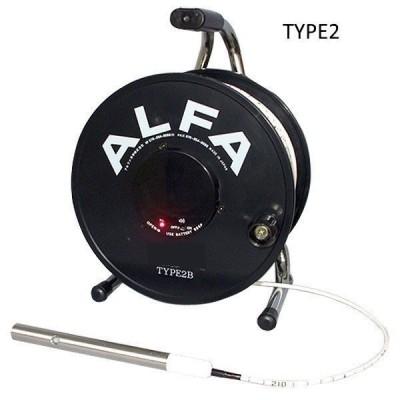 アルファ光学 ロープ式水位計 30m WL30B TYPE2 [ボーリング孔 ダム 井戸 湖 河川等 水位測定]