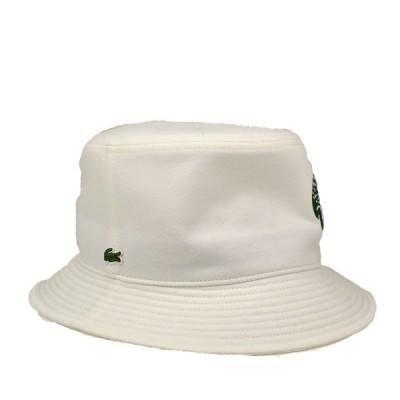 ラコステ・ワニロゴデザイン・バケットハットL1144/LACOSTE 白 カジュアル コーデ スポーツ ブランド おしゃれ メンズ レディース 送料無料 帽子